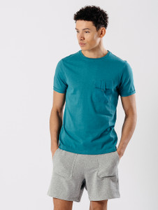 Teal Utility Pocket T Shirt