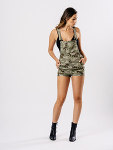 Green Camouflage Dungarees