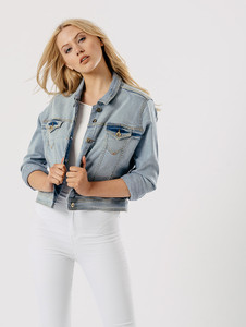 Denim Light Wash Blue Denim Jacket