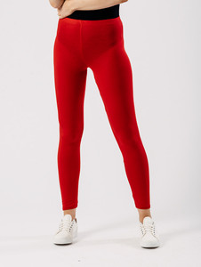 Jersey leggings in Red