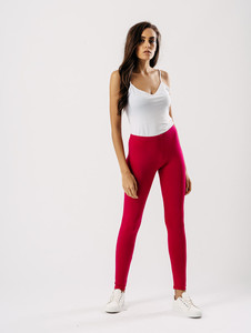Jersey leggings in Hot Pink