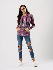 Purple Tie Dye Zipper Hoodie Jacket