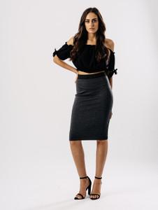 Charcoal Pencil Skirt