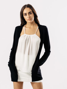 Black Cardigan With Pockets
