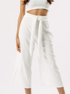 White Tube Top & Culotte Co Ord Set