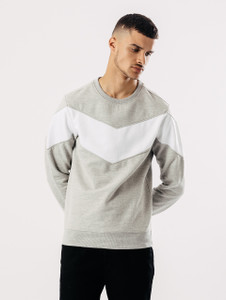 Colour Block Crew Neck Sweat