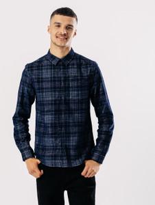 Navy Check Cord Shirt