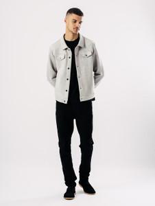 Grey Suedette Western Jacket