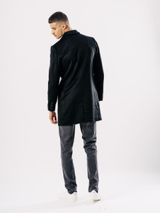 Black Melton Overcoat