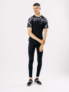 Black Short Sleeve Activewear T Shirt