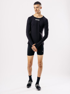Black Long Sleeve Activewear T Shirt