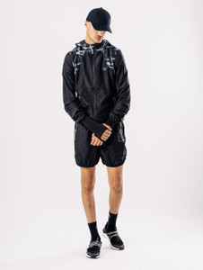 Black Printed Activewear Jacket