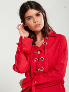 Lace Up Eyelet Shirt (RRP £28.00)