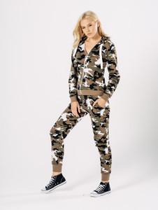 Camouflage Zip Through Hoodie Set