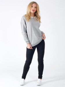 Grey Sports Luxe Stripe Jumper