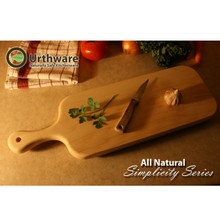 urthware all natural hard and safe maple cutting board with handle-Large
