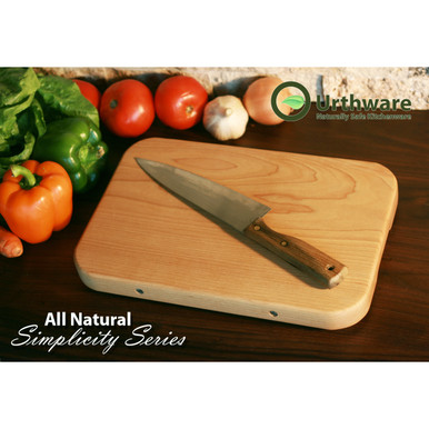 medium all natural simplicity series cutting board. Canadian hard maple with no glue. by Urthware
