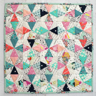 Make a Mini Quilt with fabrics from your stash