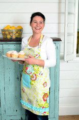 Bethanie Apron - full length Apron with a Sweet Ruffle