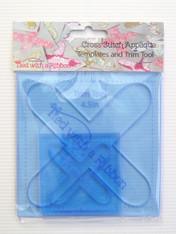 Cross Stitch Appliqué Template and Trim Tool Set