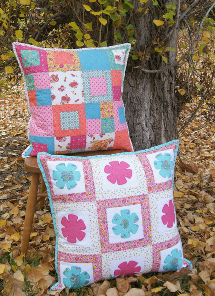 Pattern includes the instructions to make both cushions