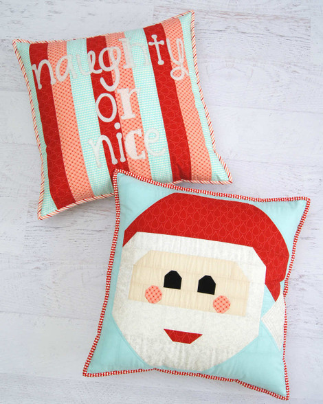 Jolly fun to make - this Pieced Cushion and Applique Cushion Set