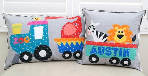 Fun Applique Zoo Cushion