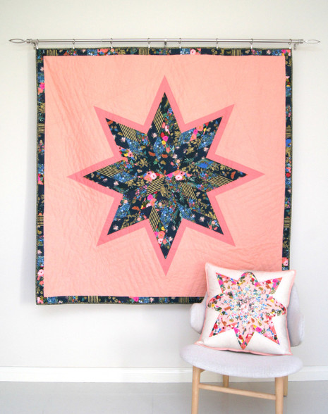 A modern twist on a traditional Lone Star Quilt