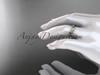 14k rose gold diamond leaf and vine wedding ring, engagement ring ADLR31B