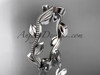 14k white gold leaf and vine wedding band,engagement ring ADLR4G