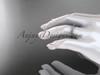 14k white gold diamond unique wedding ring, engagement ring, wedding band, stacking ring ADER103B