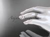 14k rose gold diamond leaf and vine wedding ring,engagement ring,wedding band ADLR41B