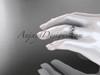 14k white gold leaf and vine wedding band, engagement ring ADLR58G