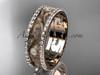 14kt rose gold diamond engagement ring, wedding band ADLR414BA