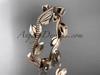 14k rose gold leaf and vine wedding band,engagement ring ADLR4G