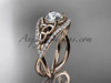 14kt rose gold celtic trinity knot engagement ring ,diamond wedding ring CT788