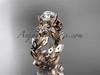 Flower Moissanite Engagement Ring Rose Gold ADLR215
