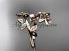 14k rose gold diamond leaf and vine wedding ring,engagement ring,wedding band ADLR27