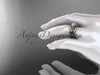 14kt rose gold celtic trinity knot wedding ring, engagement set CT7169S