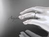 "14k rose gold diamond vine wedding ring, engagement ring with  ""Forever One"" Moissanite center stone ADLR21A"