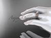 14kt rose gold celtic trinity knot engagement ring ,diamond wedding ring, engagement set CT7108S