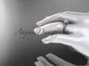 "14k rose gold diamond leaf and vine wedding ring,engagement ring with  ""Forever One"" Moissanite center stone ADLR23"