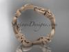 14kt rose gold celtic trinity knot matte finish wedding band, engagement ring CT7138G