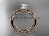 14kt rose gold celtic trinity knot engagement ring, wedding ring CT770