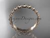 14k rose gold wedding ring, engagement ring, wedding band ADLR42B