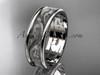 platinum leaf engagement ring, wedding band ADLR414G