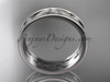14kt white gold diamond engagement ring, wedding band ADLR414BB