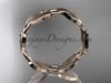 14k pink gold leaf and vine wedding band, engagement ring ADLR58G 3