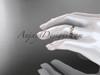 14k pink gold leaf and vine wedding band, engagement ring ADLR58G 4