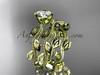 14k yellow gold diamond leaf and vine wedding ring, engagement ring, engagement set ADLR213S